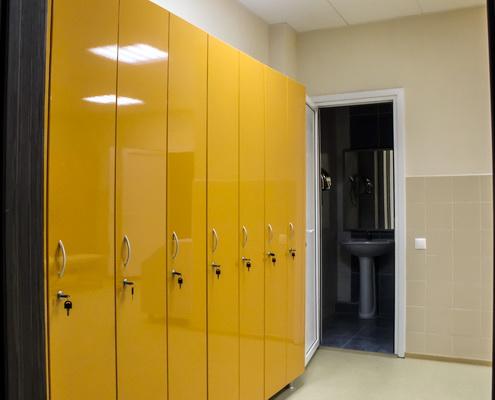шкаф раздевальный односекционный