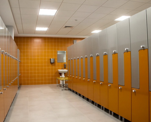 шкафы раздевальные L-образные