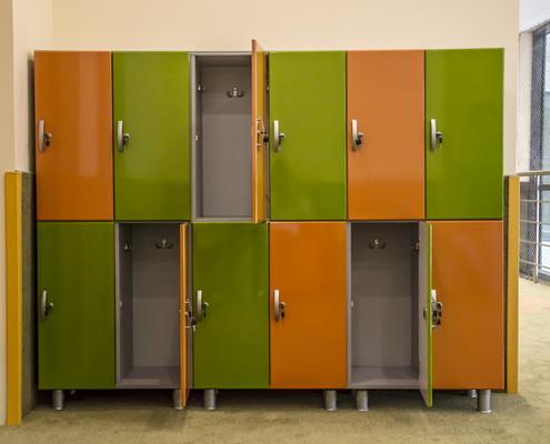 шкаф раздевальный детский