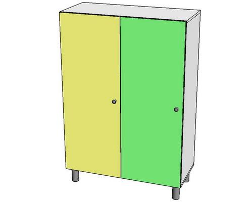 шкаф раздевальный низкий для инвалидов