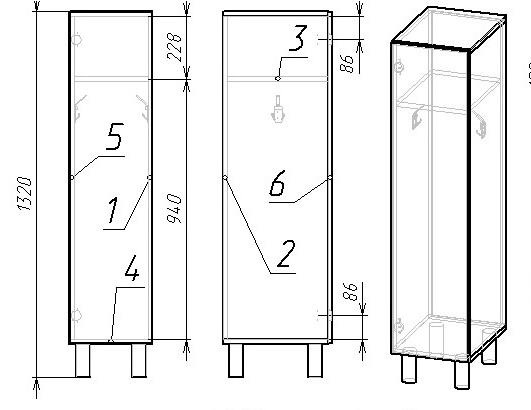 шкаф раздевальный низкий односекционный