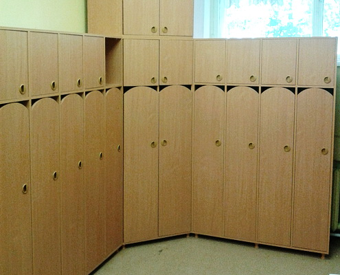 шкафчик раздевальный для детского фитнеса