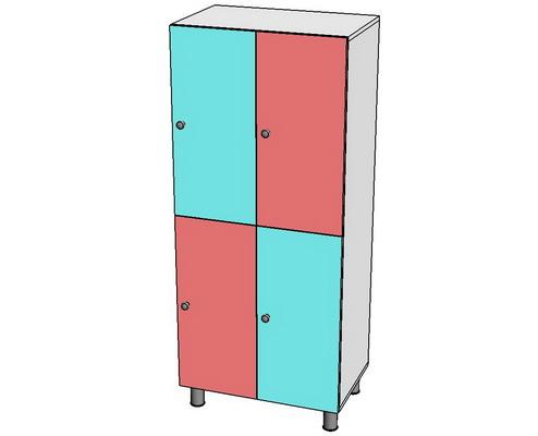 шкаф детский четырехсекционный
