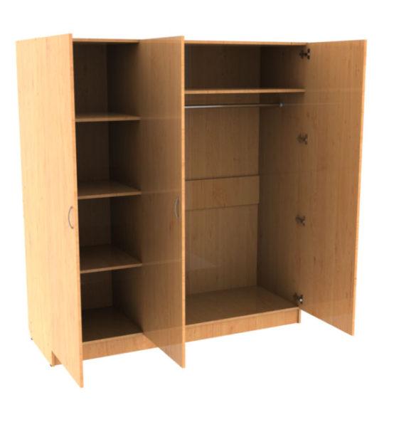 шкаф платяной трехстворчатый армейская мебель