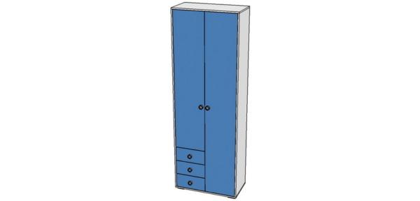 шкаф с тремя ящиками 800х500х2100