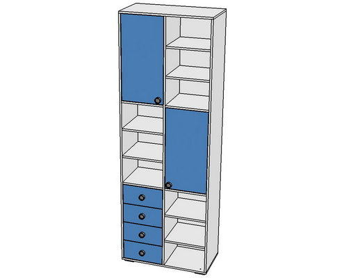 Шкаф-стеллаж 800х400х2100  с ящиками