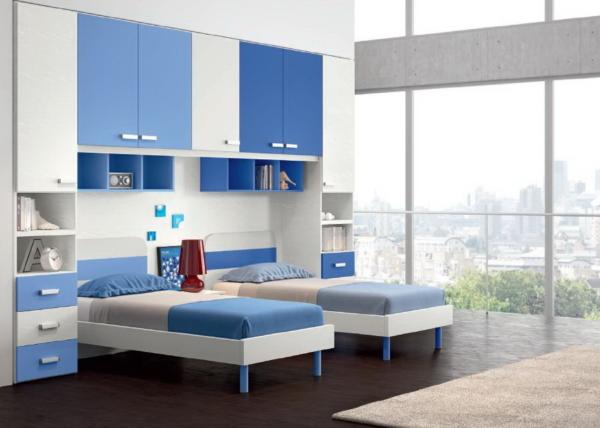 детская мебель над кроватью