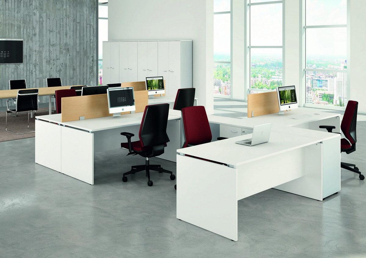 офисный стол белый