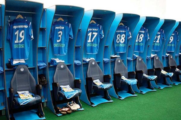 Мебель для раздевалок спортивных команд и спортивных секций